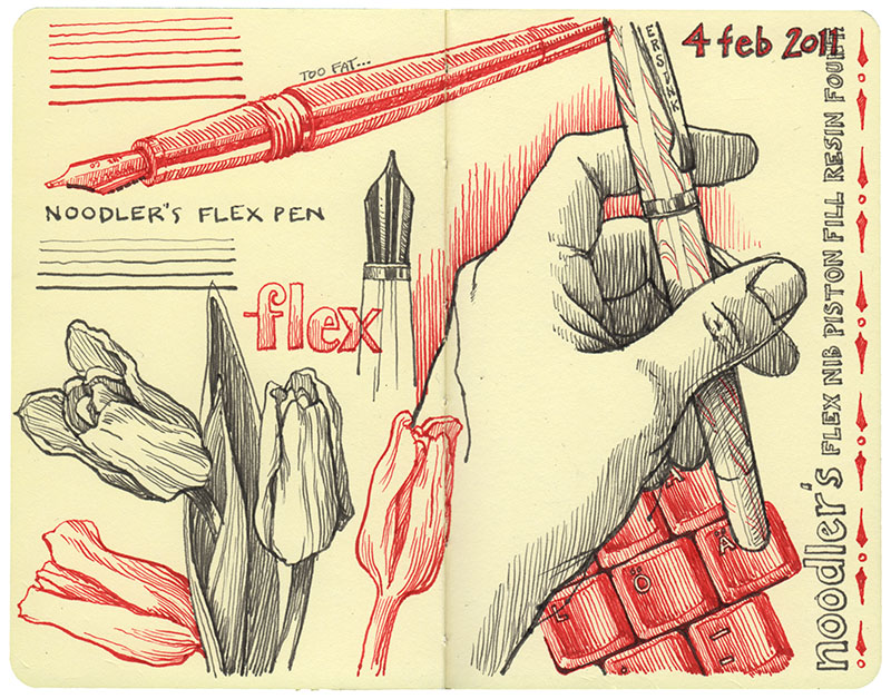 noodlers_flex_nib_page