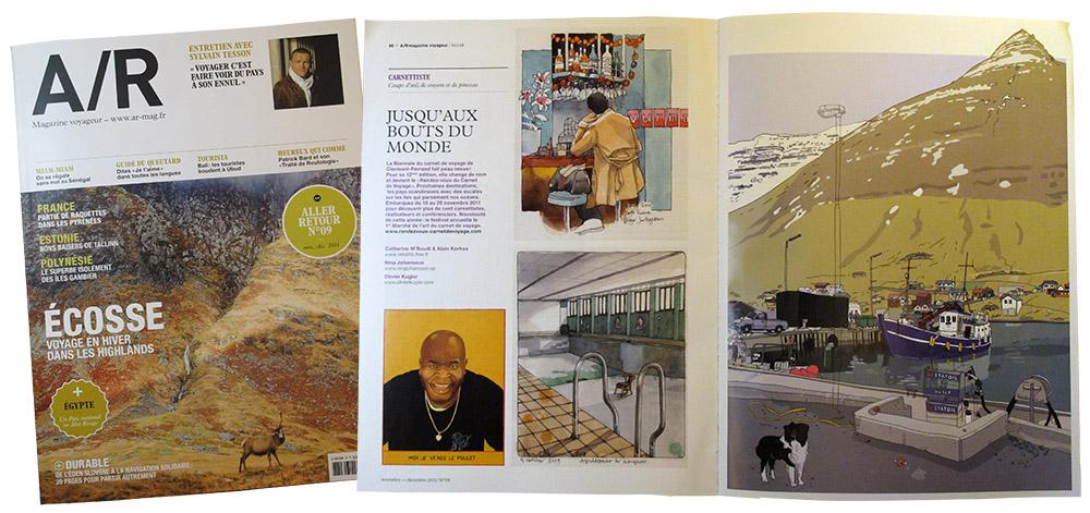 A/R magazine about Rendez vous du Carnet de Voyage