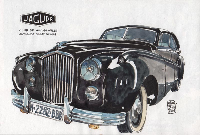 Drawing Old Cars In Las Palmas Nina Johansson