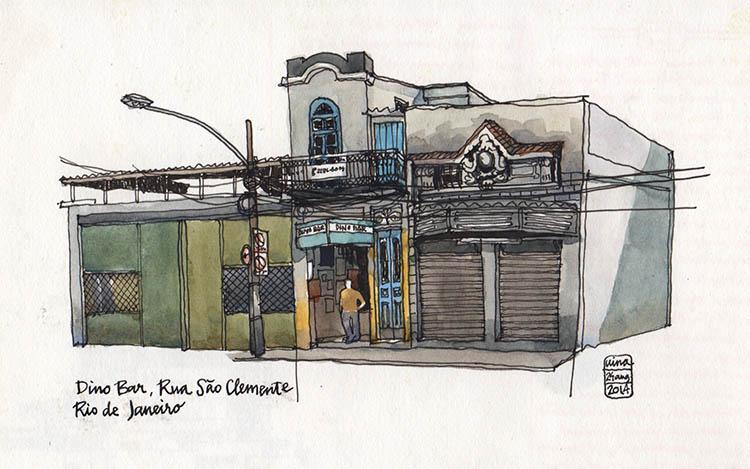 Dino bar in Rua São Clemente, Rio de Janeiro