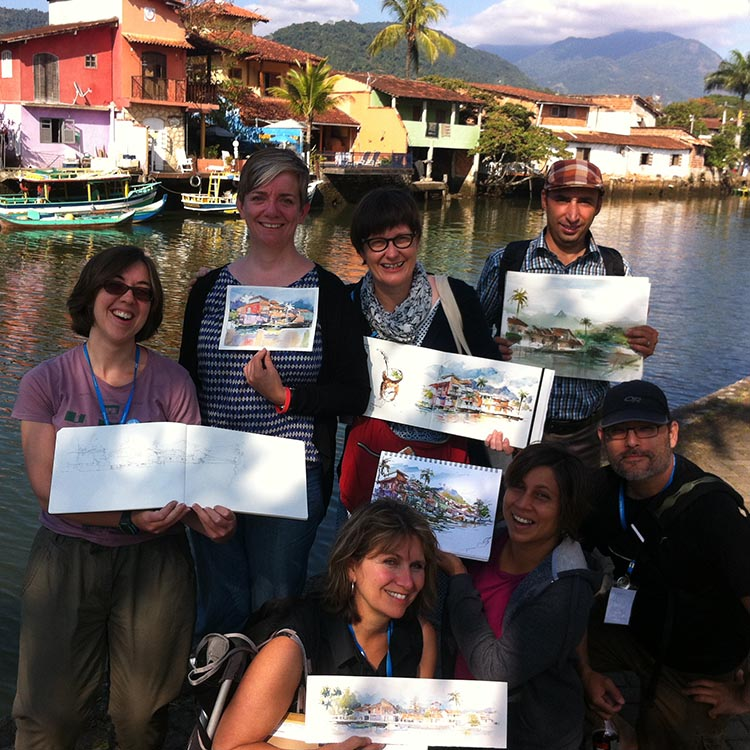Morning sketchers, Paraty