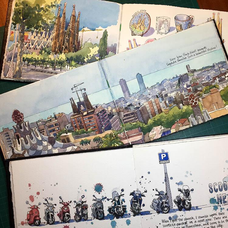 Sagrada Família sketchbooks