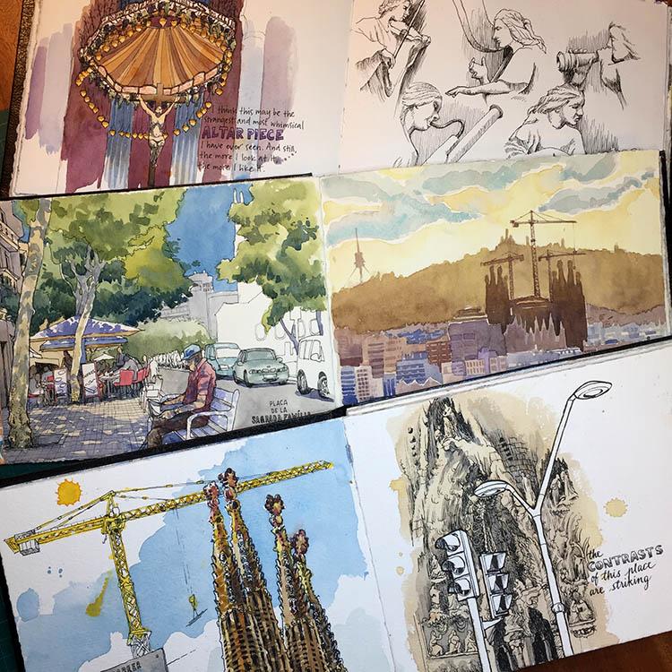 Sagrada Família sketchbooks.